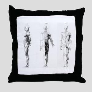 full body anatomy Throw Pillow