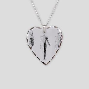 full body anatomy Necklace Heart Charm