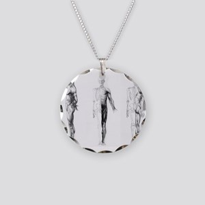 full body anatomy Necklace Circle Charm