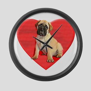 Bullmastiff puppy dog Large Wall Clock
