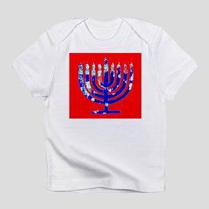 Red Blue Menorah Hanukkah 4Matthew T-Shirt