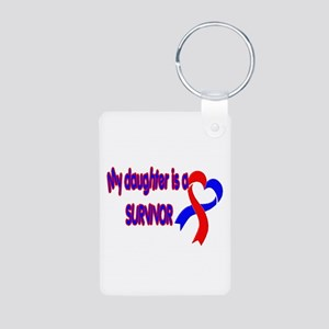 Daughter CHD Survivor Aluminum Photo Keychain