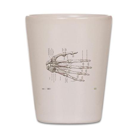 hand anatomy Shot Glass