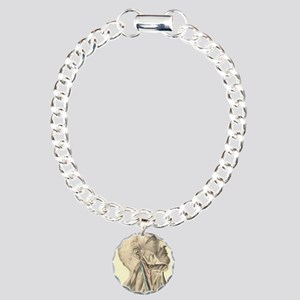 neck anatomy Charm Bracelet, One Charm