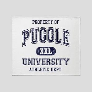 Puggle University Throw Blanket