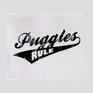 Puggles Rule Throw Blanket