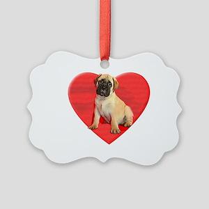 Bullmastiff puppy dog Picture Ornament