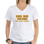 Bachelor - Dead Man Walking Women's V-Neck T-Shirt