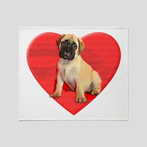 Bullmastiff puppy dog Throw Blanket