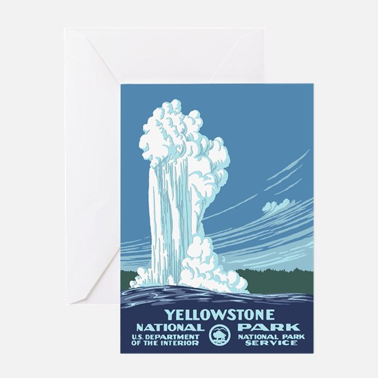 Yellowstone Travel Souvenir Greeting Card