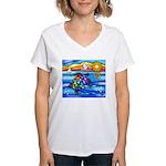 Sea Turtle #8 Women's V-Neck T-Shirt