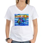 Sea Turtle #8 Women's V-Neck T-Shirt