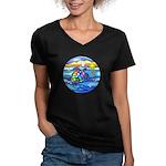 Sea Turtle #8 Women's V-Neck Dark T-Shirt