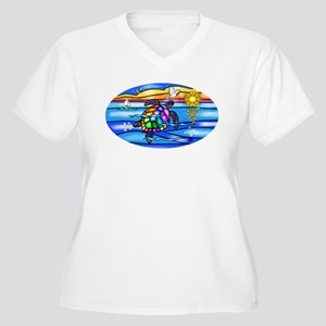 Sea Turtle #8 Women's Plus Size V-Neck T-Shirt