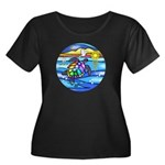 Sea Turt Women's Plus Size Scoop Neck Dark T-Shirt