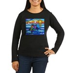 Sea Turtle #8 Women's Long Sleeve Dark T-Shirt