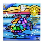 Sea Turtle #8 Tile Coaster