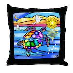 Sea Turtle #8 Throw Pillow