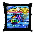 Sea Turtle #8 Throw Pillow