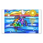Sea Turtle #8 Sticker (Rectangle)
