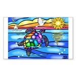 Sea Turtle #8 Sticker (Rectangle)