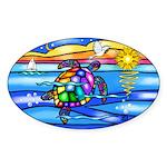 Sea Turtle #8 Sticker (Oval 10 pk)
