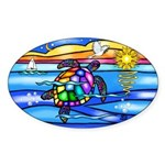 Sea Turtle #8 Sticker (Oval 10 pk)