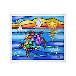 Sea Turtle #8 Throw Blanket