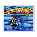 Sea Turtle #8 Throw Blanket