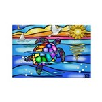 Sea Turtle #8 Rectangle Magnet (100 pack)