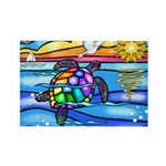 Sea Turtle #8 Rectangle Magnet