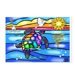 Sea Turtle #8 Postcards (Package of 8)