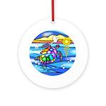 Sea Turtle #8 Ornament (Round)
