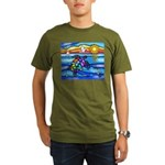 Sea Turtle #8 Organic Men's T-Shirt (dark)