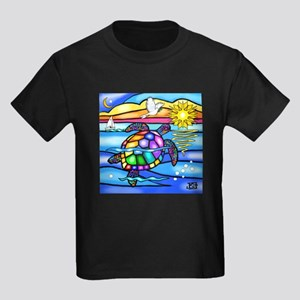 Sea Turtle #8 Kids Dark T-Shirt