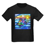 Sea Turtle #8 Kids Dark T-Shirt