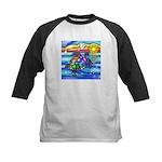 Sea Turtle #8 Kids Baseball Jersey