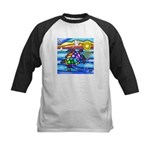 Sea Turtle #8 Kids Baseball Jersey