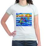 Sea Turtle #8 Jr. Ringer T-Shirt