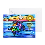 Sea Turtle #8 Greeting Cards (Pk of 10)