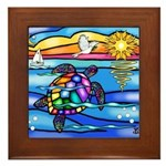 Sea Turtle #8 Framed Tile