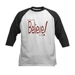 Believe! (Red) Kids Baseball Jersey