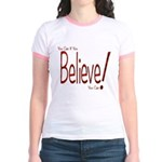 Believe! (Red) Jr. Ringer T-Shirt