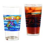 Sea Turtle #8 Drinking Glass