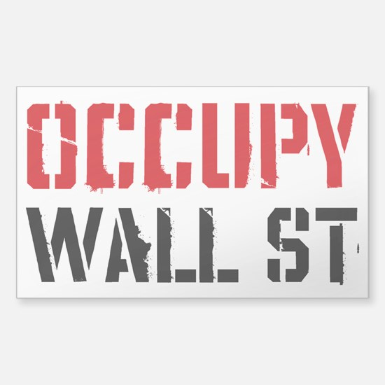 Occupy Wall St Sticker (Rectangle)