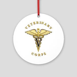 US Army Veterinary Ornament (Round)