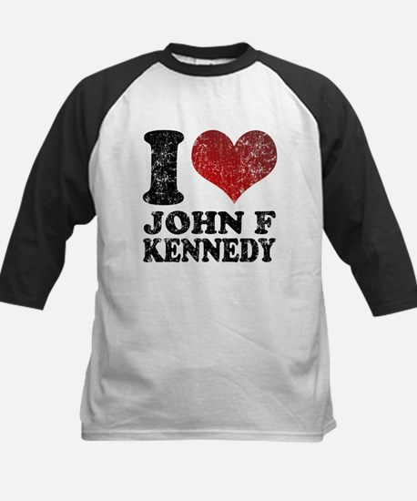 I love John F Kennedy Kids Baseball Jersey