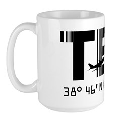 Terceira Azores Portugal airport TER Large Mug