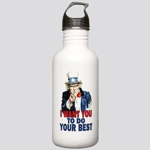 More Uncle Sam Sayings Stainless Water Bottle 1.0L