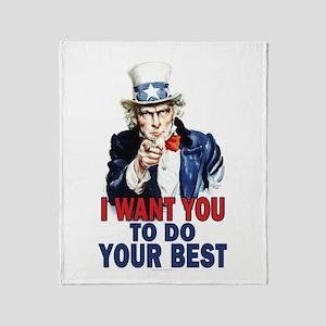 More Uncle Sam Sayings Throw Blanket